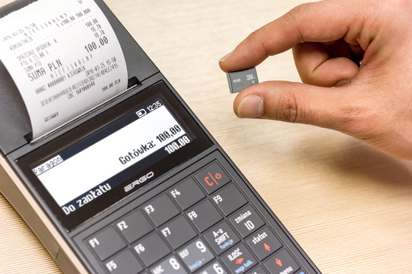 Kasa fiskalna Posnet Ergo - Kopia paragonów na pojemnej karcie microSD